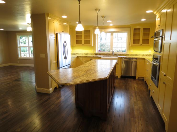 Kitchen, pantry, dining room remodel.