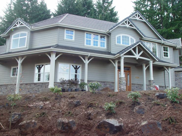 Steven W. Johnson's clients have chosen unique finish materials for their custom home.