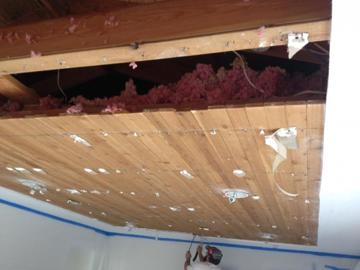 Small Remodel: new ceiling demo