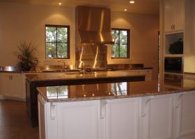 Gourmet kitchen with Wolf range.