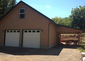 Detached Garage and wood shop