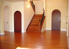 The owners were looking for a clean Tuscan look without the use of trim on the doors and windows.