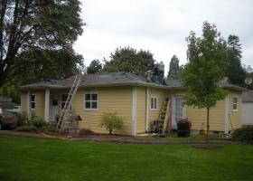 After window and siding.