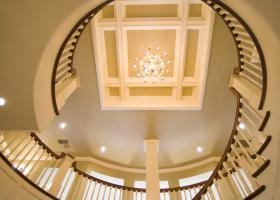Unique Ceiling and railing.