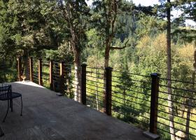 Deck railing made from rebar