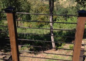 Rebar railing view custom deck