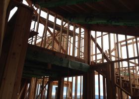 Large beams interior framing