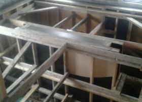 Work on concrete cabinets