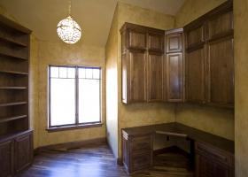 Venetian Plaster, The color is in the plaster and allows for flat sheen, gloss and high gloss finish.