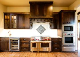 Gourmet kitchen with professional-grade appliances