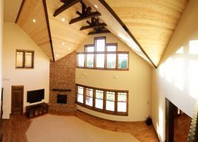Stunning 30' rustic hemlock ceiling