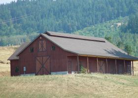 Nine Stall Equestrian Horse Custom Facility Barn