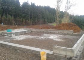 Foundation on a detached garage