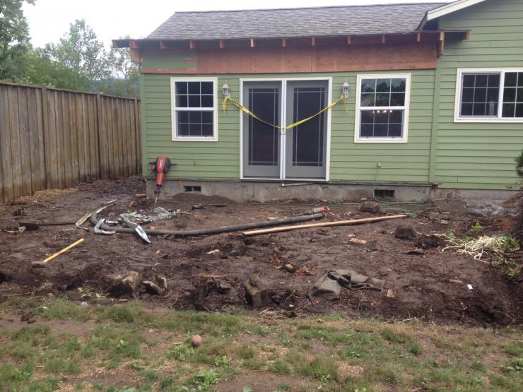 Outdoor living remodel has started with some demo ... on Outdoor Living 4U id=24123